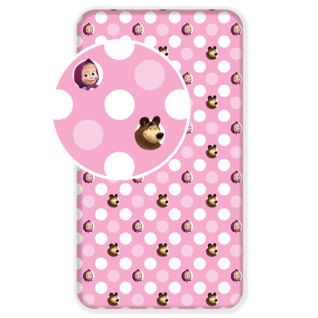 """Masha and The Bear """"051"""" fitted sheet image 1"""