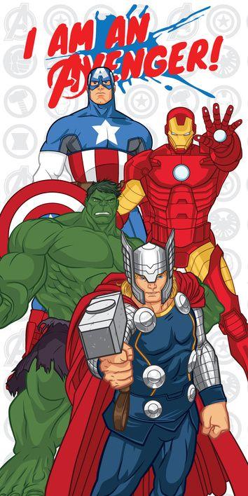 "Avengers ""White"" beach towel image 1"