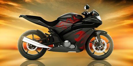 "Motorka ""Red"" osuška obrázek 2"
