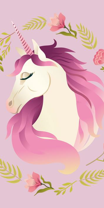 """Unicorn """"Flowers"""" osuška obrázek 1"""
