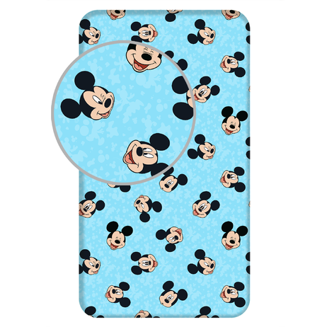 """Mickey """"Blue"""" fitted sheet image 1"""