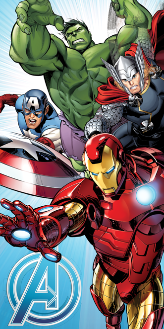 "Avengers ""Light blue"" osuška obrázek 1"