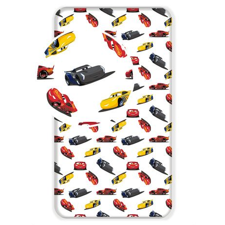 """Cars """"I am speed"""" fitted sheet image 1"""