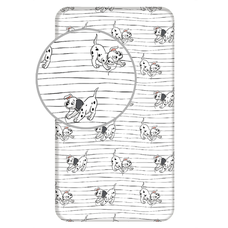 """101 Dalmatians """"Lucky Stripe"""" fitted sheet image 1"""