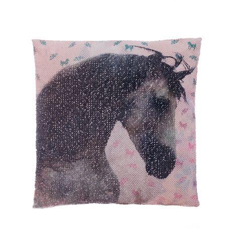 """Kůň """"Square"""" polštářek s flitry obrázek 3"""