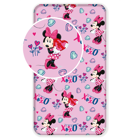 """Minnie """"Pink"""" fitted sheet image 1"""