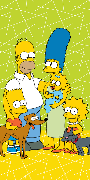 """The Simpsons family """"Green 02"""" beach towel image 1"""