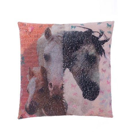 """Kůň """"Square"""" povlak na polštářek s flitry obrázek 4"""