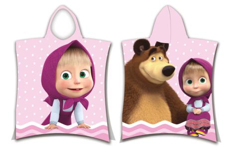 "Masha and The Bear ""Dots"" poncho image 1"