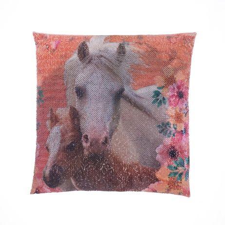 """Kůň """"Square"""" povlak na polštářek s flitry obrázek 2"""