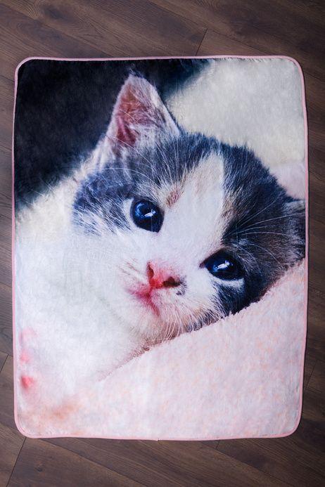 Koťátko mikroflanelová deka obrázek 2