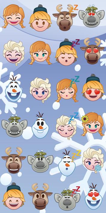 "Frozen ""Emoji"" osuška obrázek 1"
