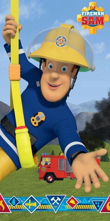 """Požárník Sam """"Blue"""" osuška obrázek 1"""