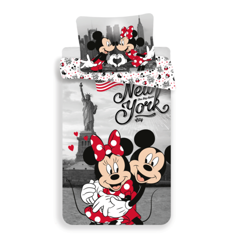 "Mickey and Minnie in New York ""Love"" (pillow 60 x 80 cm) image 1"