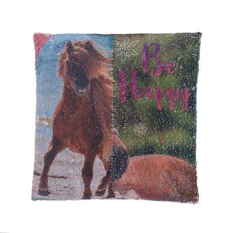 """Kůň """"Heart"""" polštářek s flitry obrázek 4"""