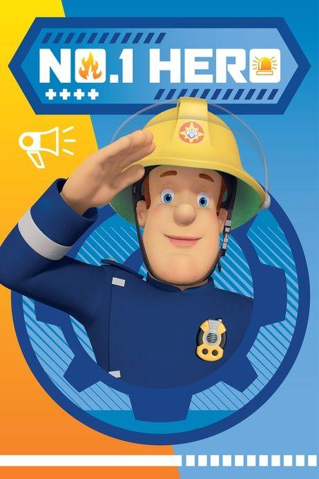 """Fireman Sam """"Hero"""" fleece blanket image 1"""