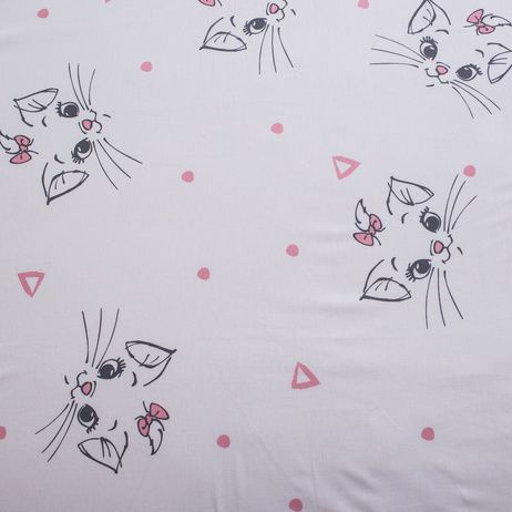 """Marie Cat """"Light Pink"""" fitted sheet image 3"""