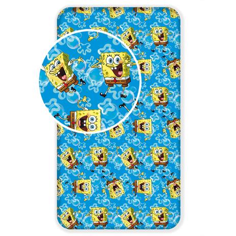 "Sponge Bob ""Blue"" fitted sheet image 1"