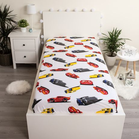 """Cars """"I am speed"""" fitted sheet image 2"""