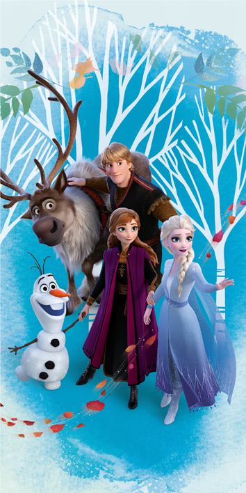 "Frozen 2 ""Blue"" beach towel image 1"