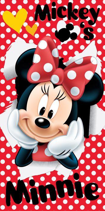 "Minnie ""Red 02"" beach towel image 1"