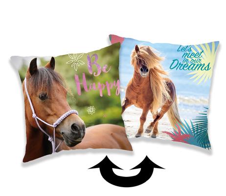 """Kůň """"Heart"""" polštářek s flitry obrázek 1"""