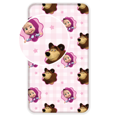 Masha and the Bear fitted sheet image 1