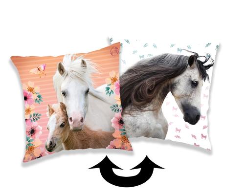 """Kůň """"Square"""" polštářek s flitry obrázek 1"""
