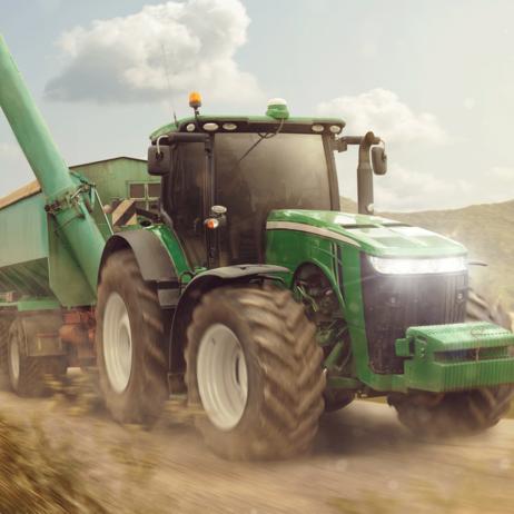 """Traktor """"Green"""" povlak na polštářek obrázek 1"""