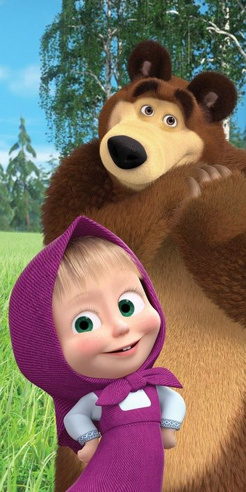 "Masha and The Bear ""050"" beach towel image 1"