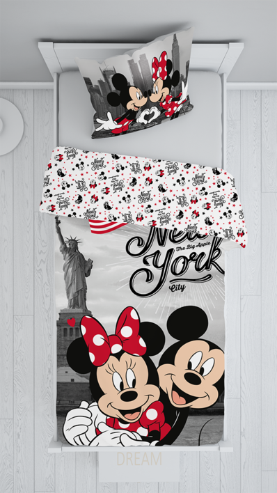 "Mickey and Minnie in New York ""Love"" (pillow 60 x 80 cm) image 2"
