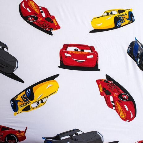 """Cars """"I am speed"""" fitted sheet image 3"""