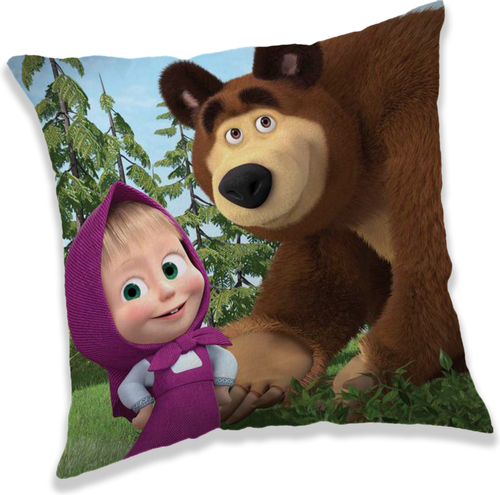 """Máša a Medvěd """"Forest 02"""" polštářek"""