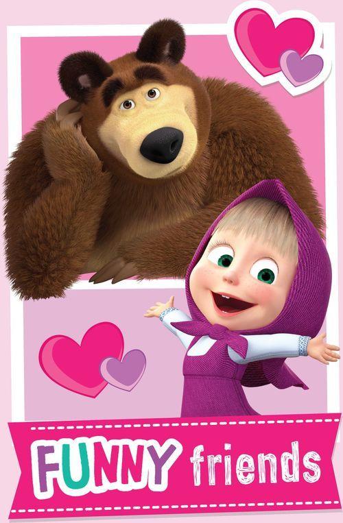"Máša a Medvěd ""Friends"" fleecová deka"