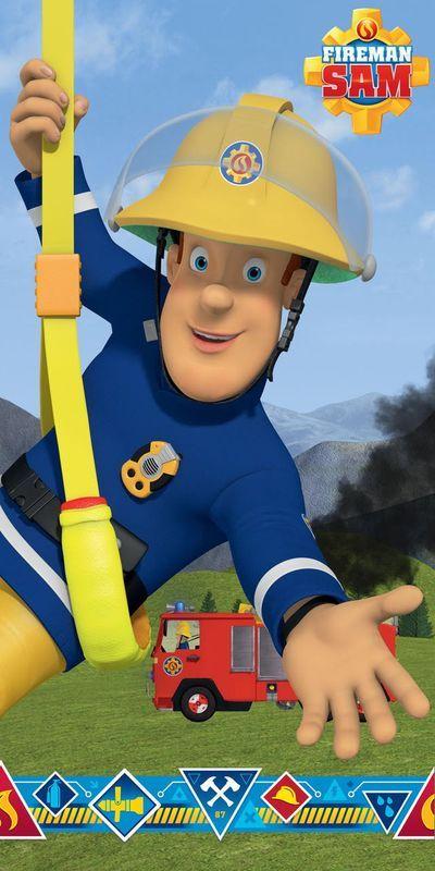 """Požárník Sam """"Blue"""" osuška"""