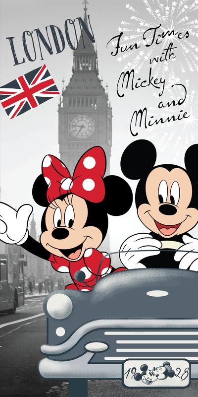 Mickey a Minnie v Londýně osuška