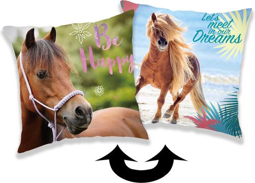 """Kůň """"Heart"""" povlak na polštářek s flitry"""